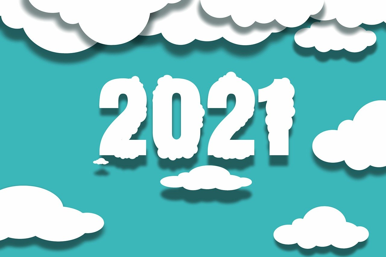 new year, 2021, clouds